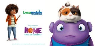 Win a Family Ticket to Offbeat Easter Movie Treat 'HOME' with LycaMobile