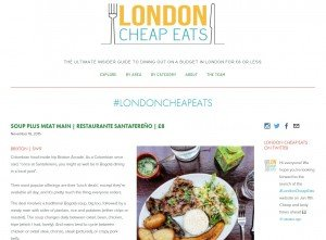 LondonCheapEats.com Website