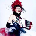 Gabby Young with an Accordion