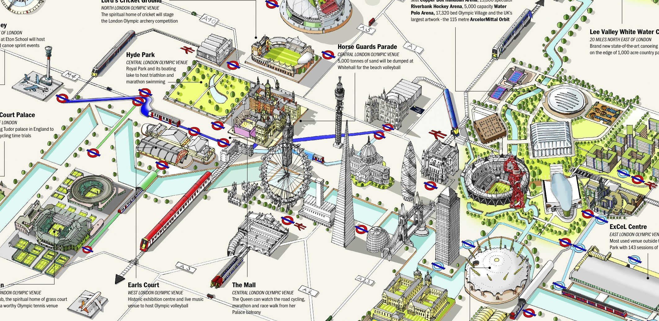London Town Map.Olympic Venues Map Courtesy Of Londontown Com