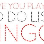 To Do List London Bingo - Have you played?