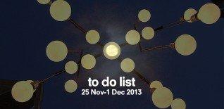 London To Do List – 25 November - 1 December