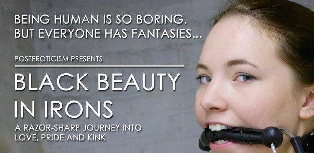 Black Beauty in Irons - London Kink