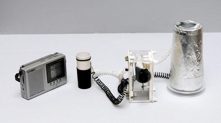 Installation by Yuri Suzuki, sound artist, designer and electronic musician © Yuri Suzuki.