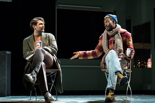 James McArdle (Louis) and-Nathan Stewart-Jarrett (Belize) in Angels in America