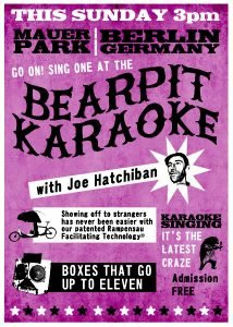 Bearpit Karaoke Berlin Flyer