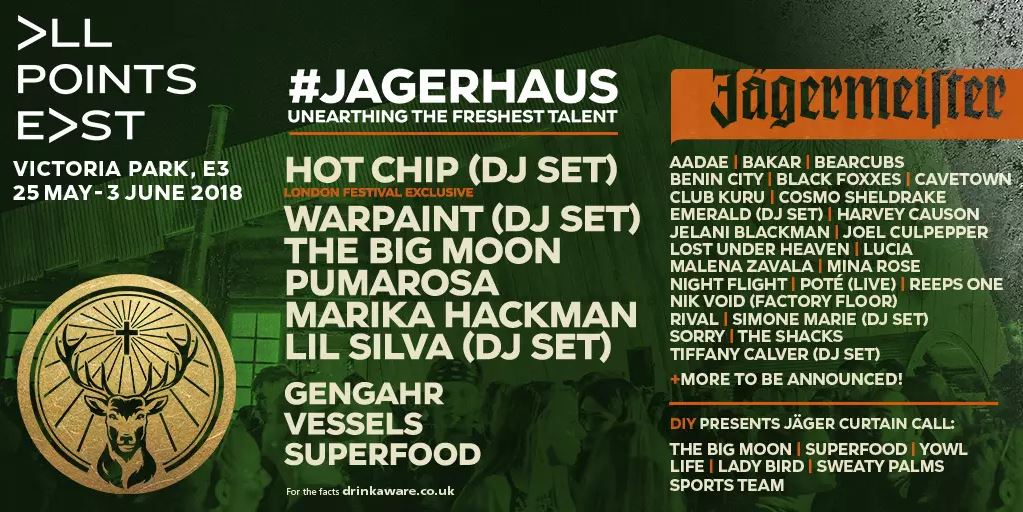 All Points East - Jagerhaus - To Do List